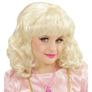 Peluca princesa rubia inf