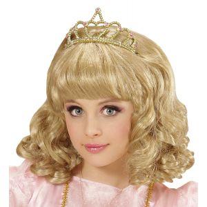 Peluca rubia con corona inf