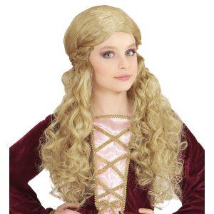 Peluca chica medieval rubia infa
