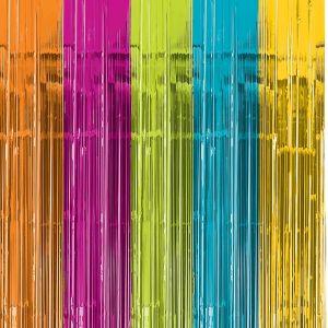 Cortina metal colores pastel