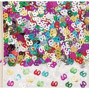 Confeti multicolor numero 60 14gr