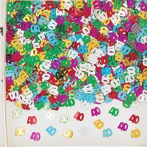 Confeti multicolor numero 40 14gr