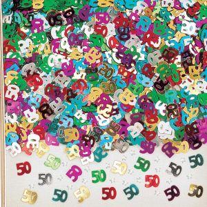 Confeti multicolor numero 50 14 gr
