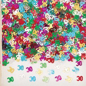 Confeti multicolor numero 30 14gr