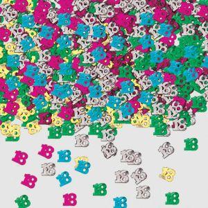 Confeti multicolor numero 18 14 gr