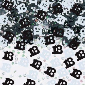 Confeti negro numero 18 14fr
