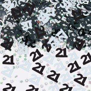 Confeti negro numero 21 14 gr