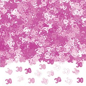 Confeti rosa numero 30 14 gr