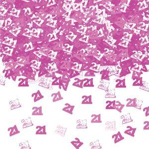 Confeti rosa numero 21 14 gr
