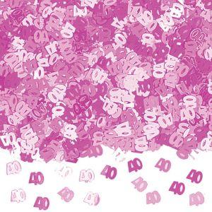 Confeti rosa numero 40 14gr