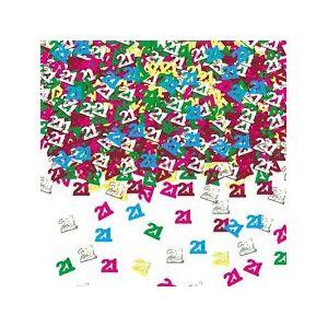 Confeti multicolor numero 21 14gr