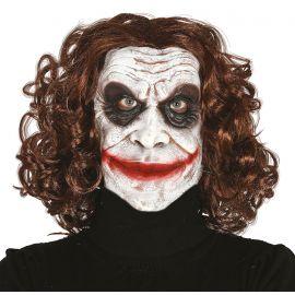 Mascara bufon terror con pelo