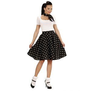 Falda con pañuelo años 50 negra