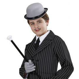 Sombrero bombin infantil gris