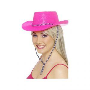 Sombrero vaquera rosa