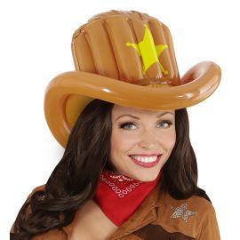 Sombrero vaquero hinchable