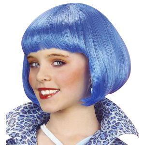 Peluca años 20 azul infantil