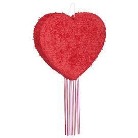 Piñata volumen corazón rojo
