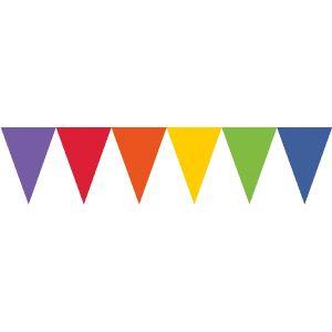 Banderin triangulo multicolor surt