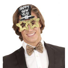 Gafas feliz año oro