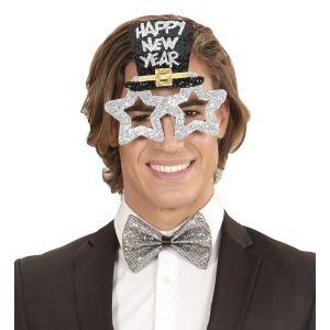 Gafas feliz año plata