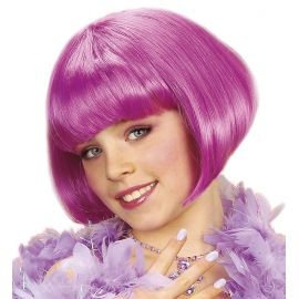 Peluca años 20 violeta infantil