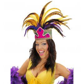 Corona carnaval con plumas