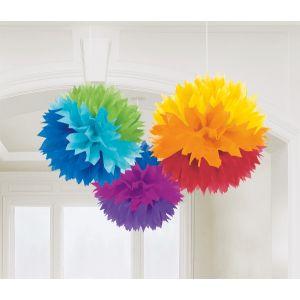 Pom pom decoracion multicolor 3 und