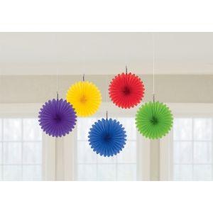 Decoracion abanicos mini multicolor