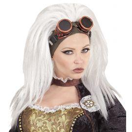 Peluca steampunk con gafas