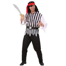 Disfraz pirata blanco y negro adulto