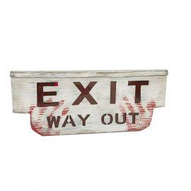 Cartel exit terror con luz y sonido
