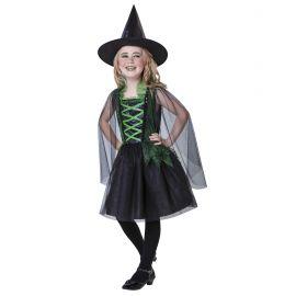 Disfraz bruja verde gotica
