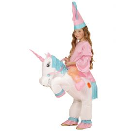 Disfraz hinchable unicornio infantil