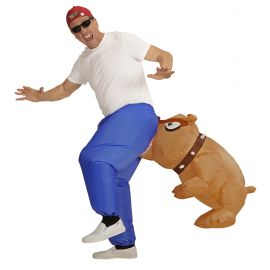 Disfraz bulldog mordedor hinchable