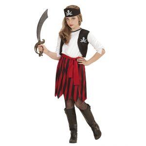 Disfraz pirata niña sencillo