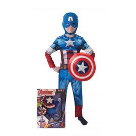 Disfraz capitan america escudo caja