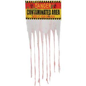 Letrero con cortina danger 90x135