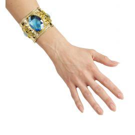 Pulsera dorada con gemas