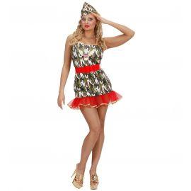 Disfraz army chica