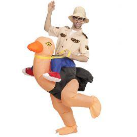 Disfraz explorador sobre pajaro hinchabl