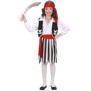 Disfraz pirata niña blanco y negro