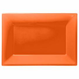Bandejas naranja 3 und 33x23cm