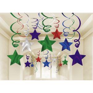 Decoracion estrellas colgantes 30 piezas