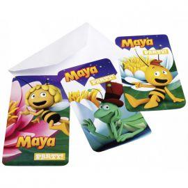Invitaciones abeja maya
