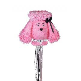 Piñata perro rosa volumen