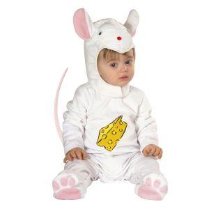 Disfraz bebe ratón blanco 1-2 años