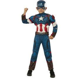 Disfraz capitan america deluxe infantil