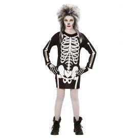 Disfraz niña esqueleto blanco