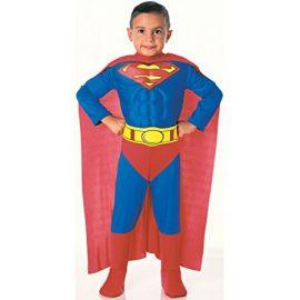 7bf77a50c Disfraz superman deluxe 1-2 años